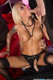 Rikki Six Gets Fucked By Two Cocks