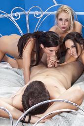 Busty Pornstars Share A Cock