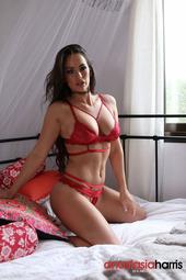 Anastasia Harris In Red Lingerie