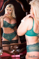 Candy Charms In Green Lingerie