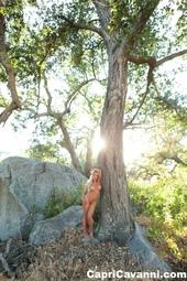 Curvy Blonde Bombshell Capri Cavanni