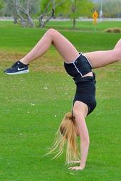 Khloe In Acrobatics In Public