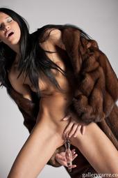 Julia Bright In Fur Coat