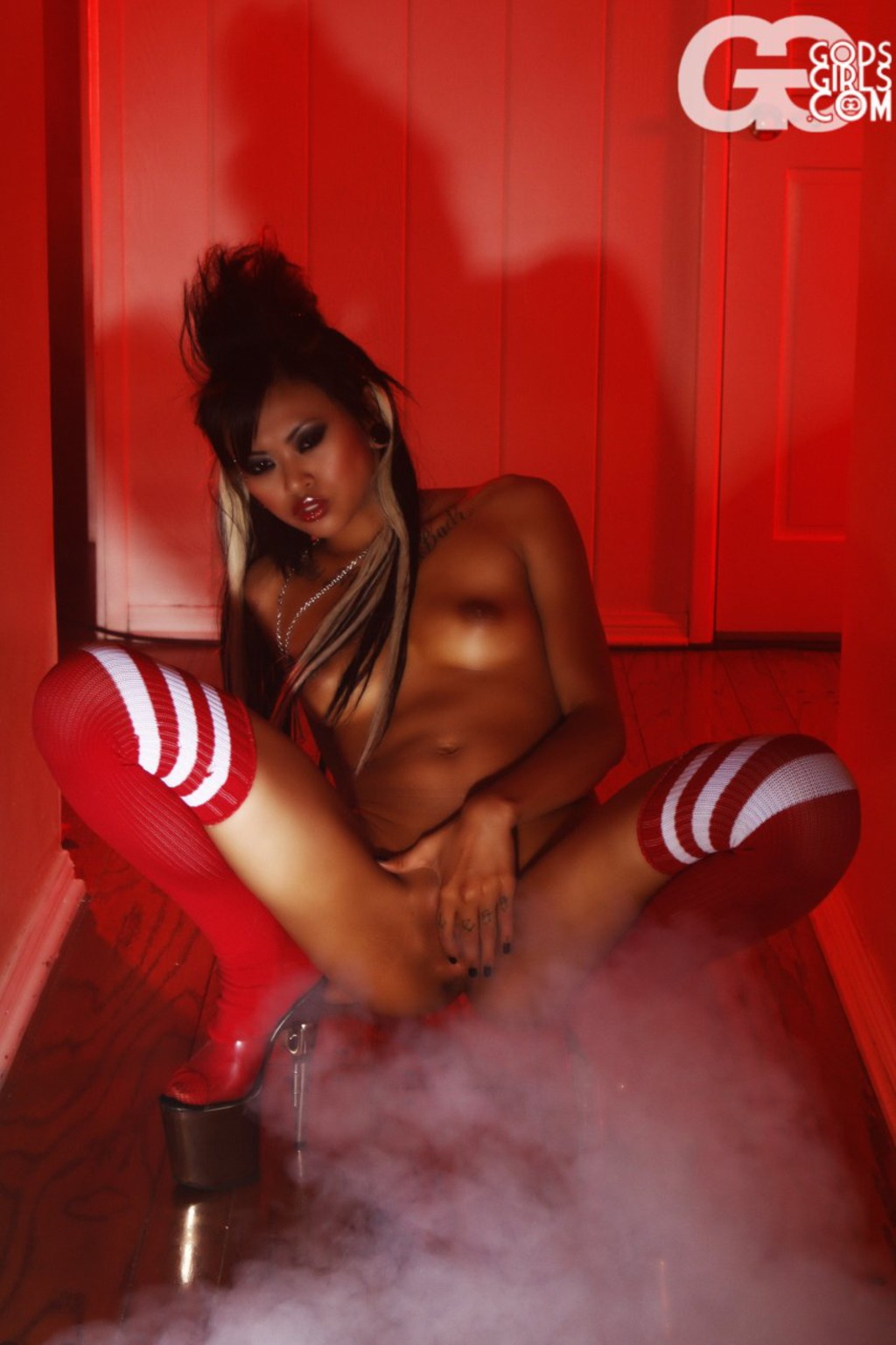 Skinny Asian In High Socks 07