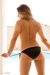 Lacey Banghard In Black Shorts
