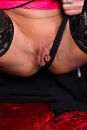 Lynda Leigh In Black Stockings