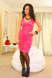 Lindsey Strutt In Pink Dress