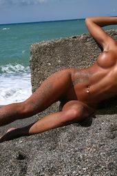 Ashley Bulgari Gets Nude On The Beach