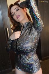 Tessa Fowler In Sparkle Jumpsuit 2