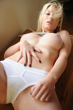 Kirsty Corner Teasing In White Panties