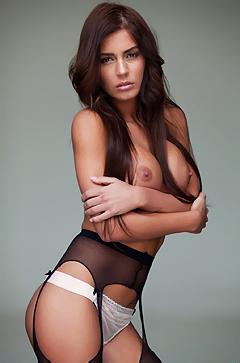 Alexa Varga In Black Stockings