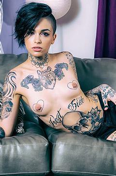 Tattooed Slut Stripping