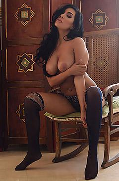 Ann Denise Teasing In Sexy Lingerie