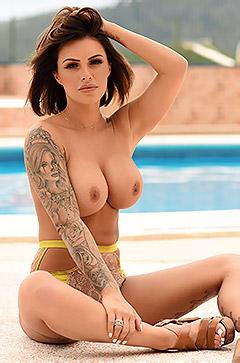 Poolside Babe Gemma Massey