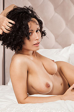Busty Brunette Pammie Lee Shows Her Sexy Body
