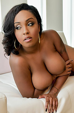 Busty And Booty Ebony Slut Strips To Naked