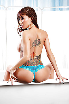 Gia Dimarco Slipping Off Her Lingerie
