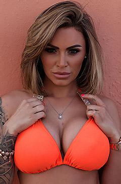 Gemma Massey In Orange Bikini