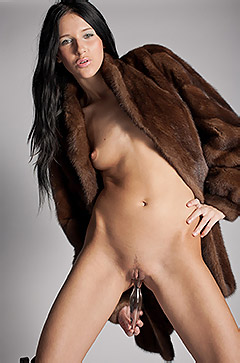 Julia Bright In Fur Coat