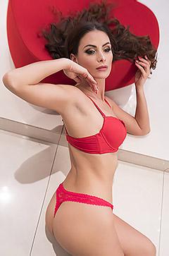 Kinga In Red Lingerie