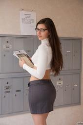 Sexy Teen Irene Quinn As A Hot Schoolgirl